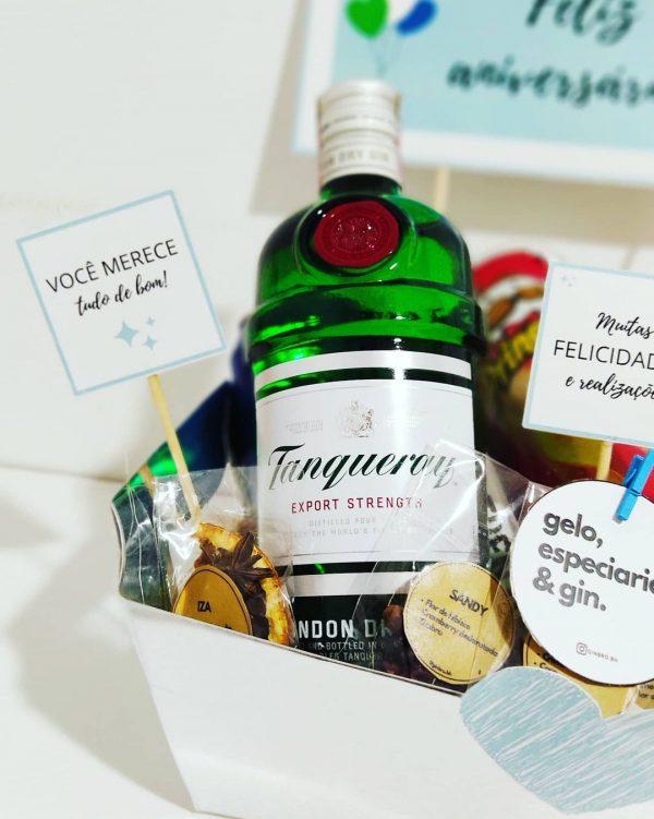 cesta com gin