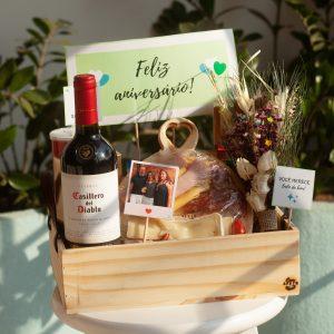 cesta com vinho bh